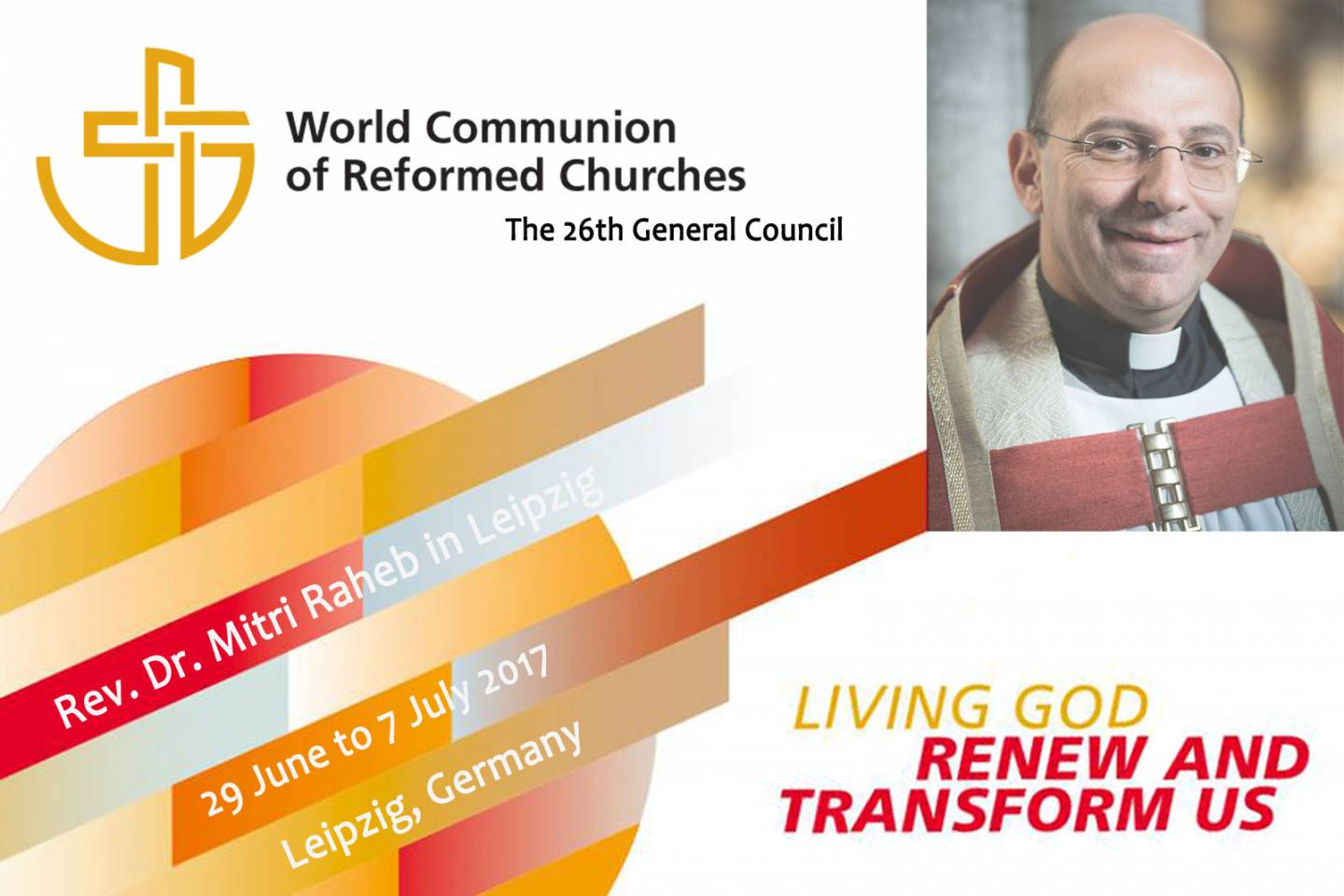 Dr. Raheb in the 26th General Council in Leipzig next week