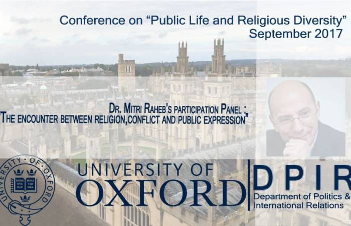 Dr. Raheb speaking at the University of Oxford