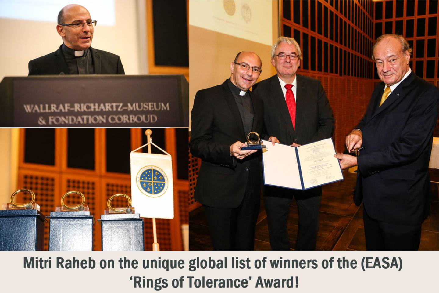 Rev. Dr. Mitri Raheb receives the prestigious Tolerance Ring Award in Cologne-Germany!