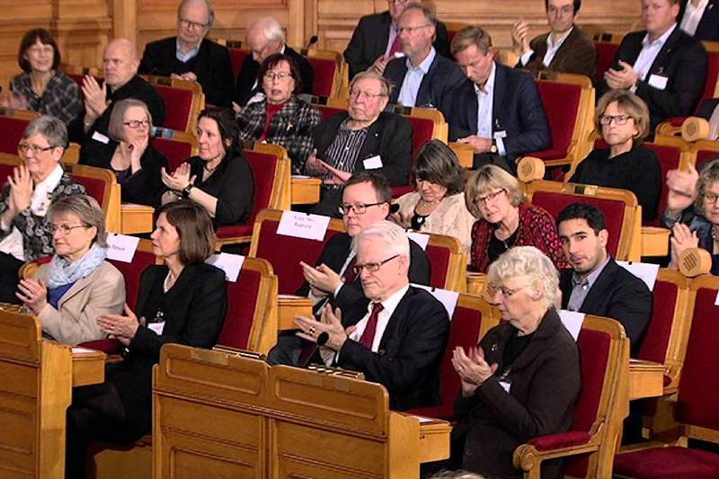 The Olof Palme Prize ceremony in the Swedish Parliament