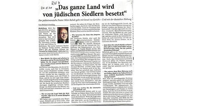 Das ganze Land Wird Von judischen Siedlern besetzt